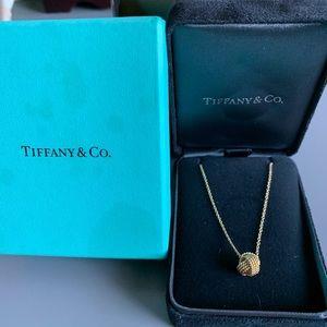 Tiffany 18k gold necklace